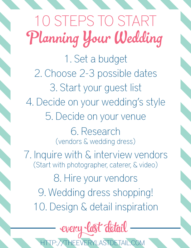 Things You Need To Plan A Wedding Mycoffeepot Org